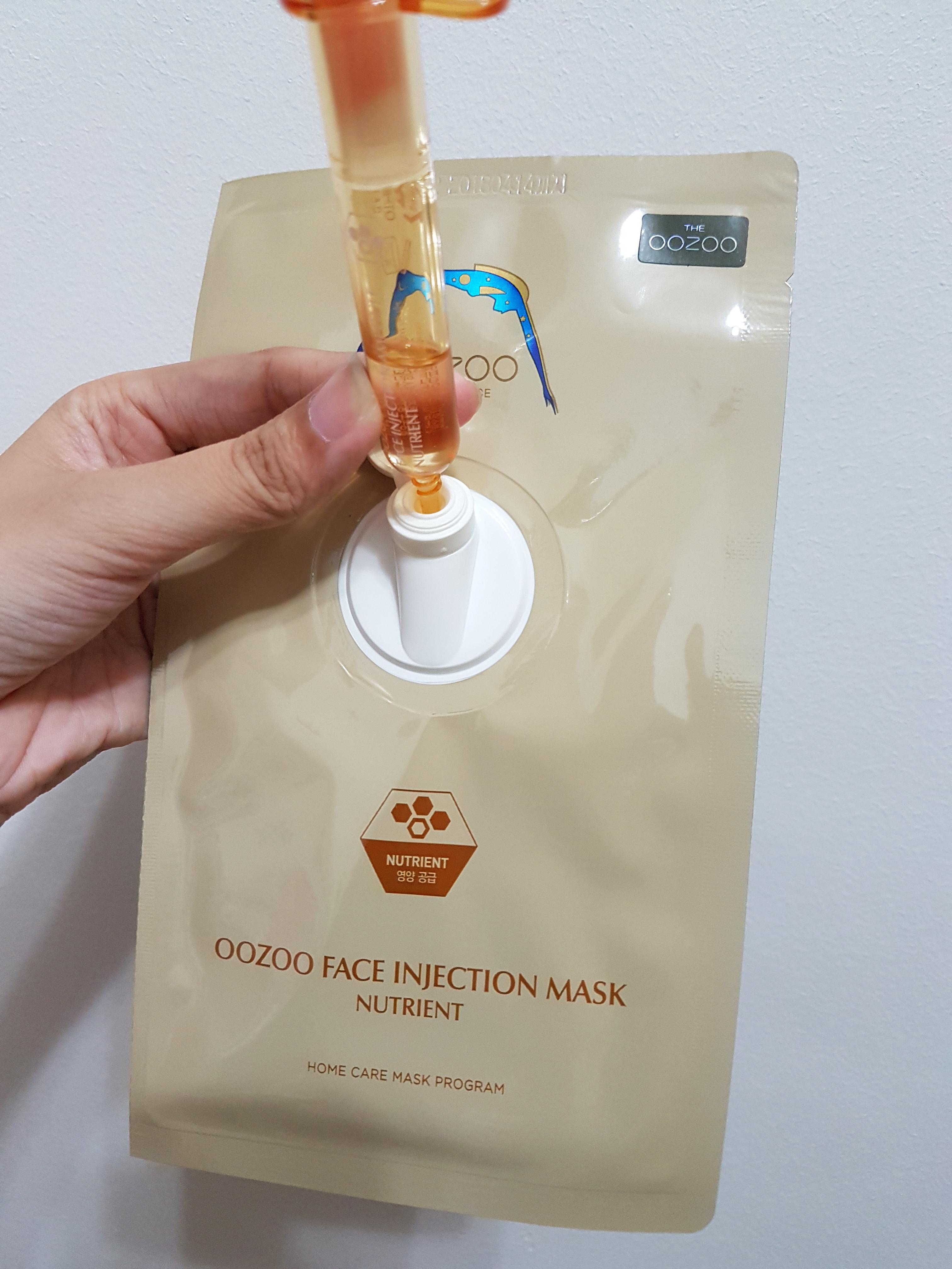 Mặt Nạ Ống Tiêm Cải Thiện Nếp Nhăn, Tăng Độ Đàn Hồi THE OOZOO Face Injection Mask Nutrient