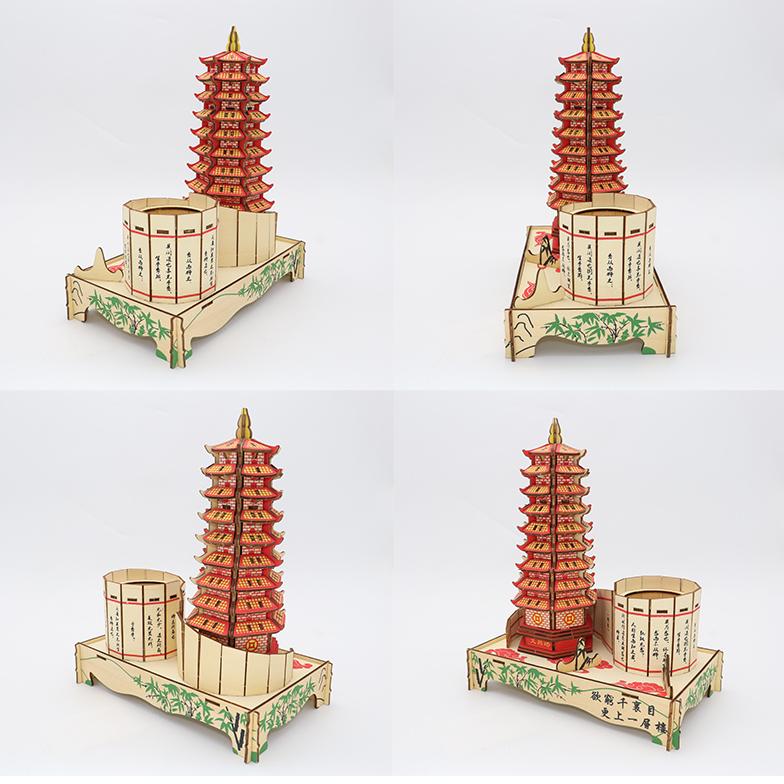 Đồ chơi lắp ráp gỗ 3D Mô hình Tháp Văn Xương Laser LC-GP484