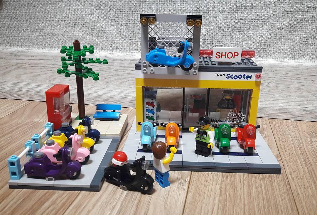 Đồ chơi xếp hình - Chính hãng Hàn Quốc - Cửa Hàng Xe Scooter Oxford ST33325  - gồm 530 mảnh ghép dành cho bé 8 tuổi trở lên - Lắp ghép, Xếp hình