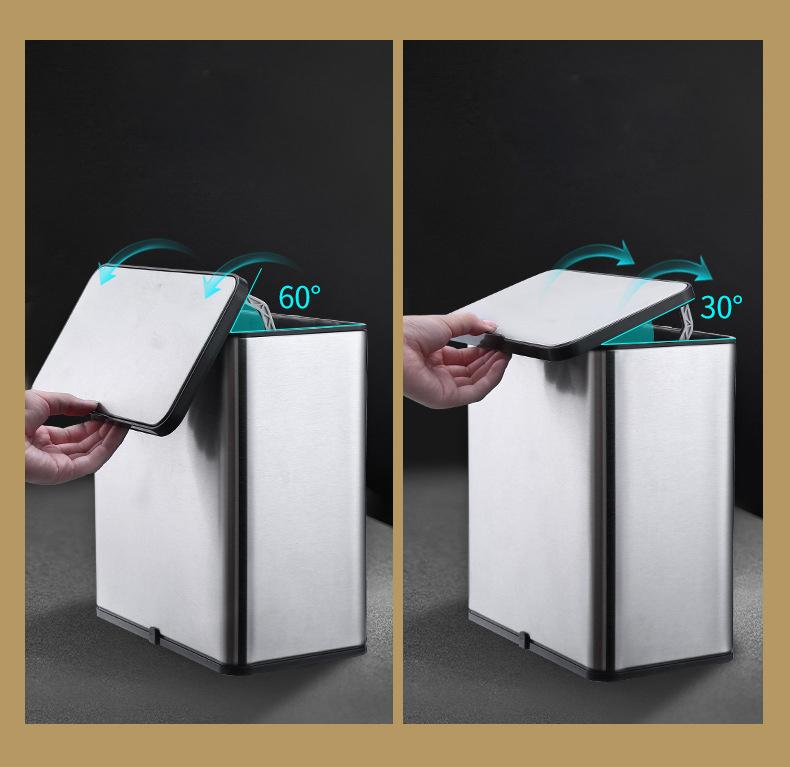 Thùng rác treo kẹp gắn tủ bếp bằng inox cao cấp H41