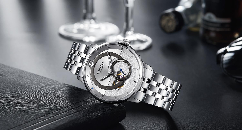 Đồng hồ nam máy cơ tự động lộ máy chính hãng Thụy Sĩ TOPHILL TW070G.S1238