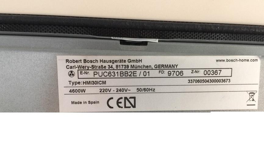 Bếp từ Bosch PUC631BB2E - Hàng chính hãng