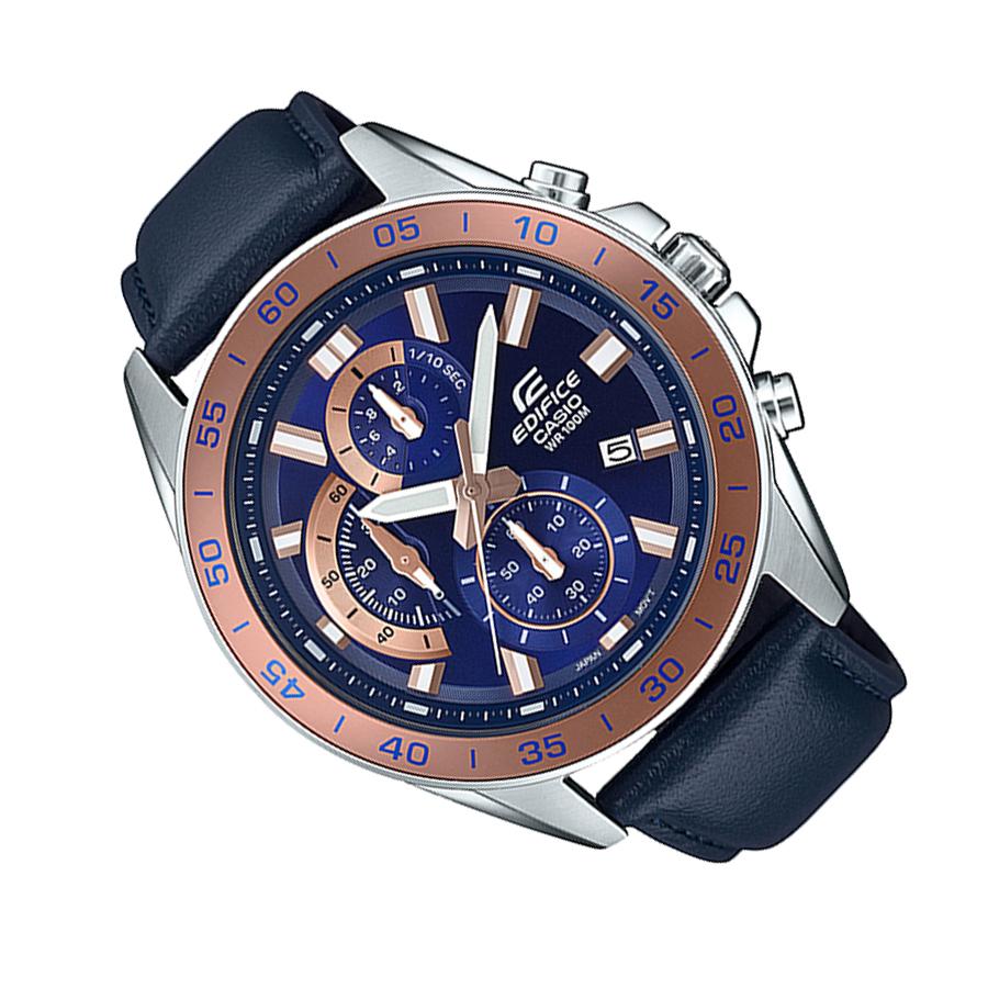 Đồng hồ nam dây da Casio Edifice chính hãng EFV-550L-2AVUDF