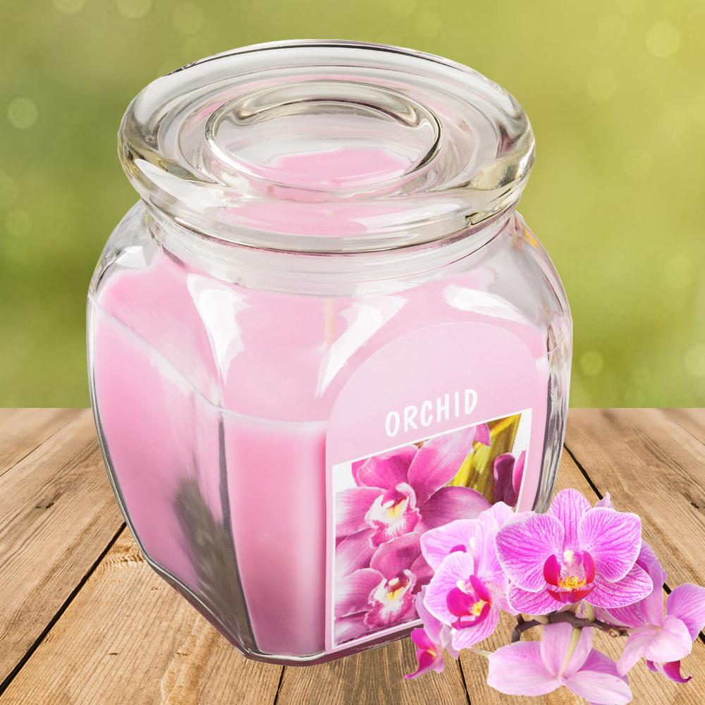 Hũ nến thơm tinh dầu Bolsius Orchid 305g QT024367 - hương hoa lan