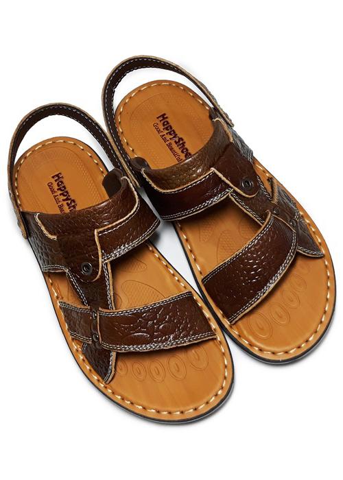 Giày Sandal Nam Da Bò Vân Cá Sấu HappyShoes - HP02
