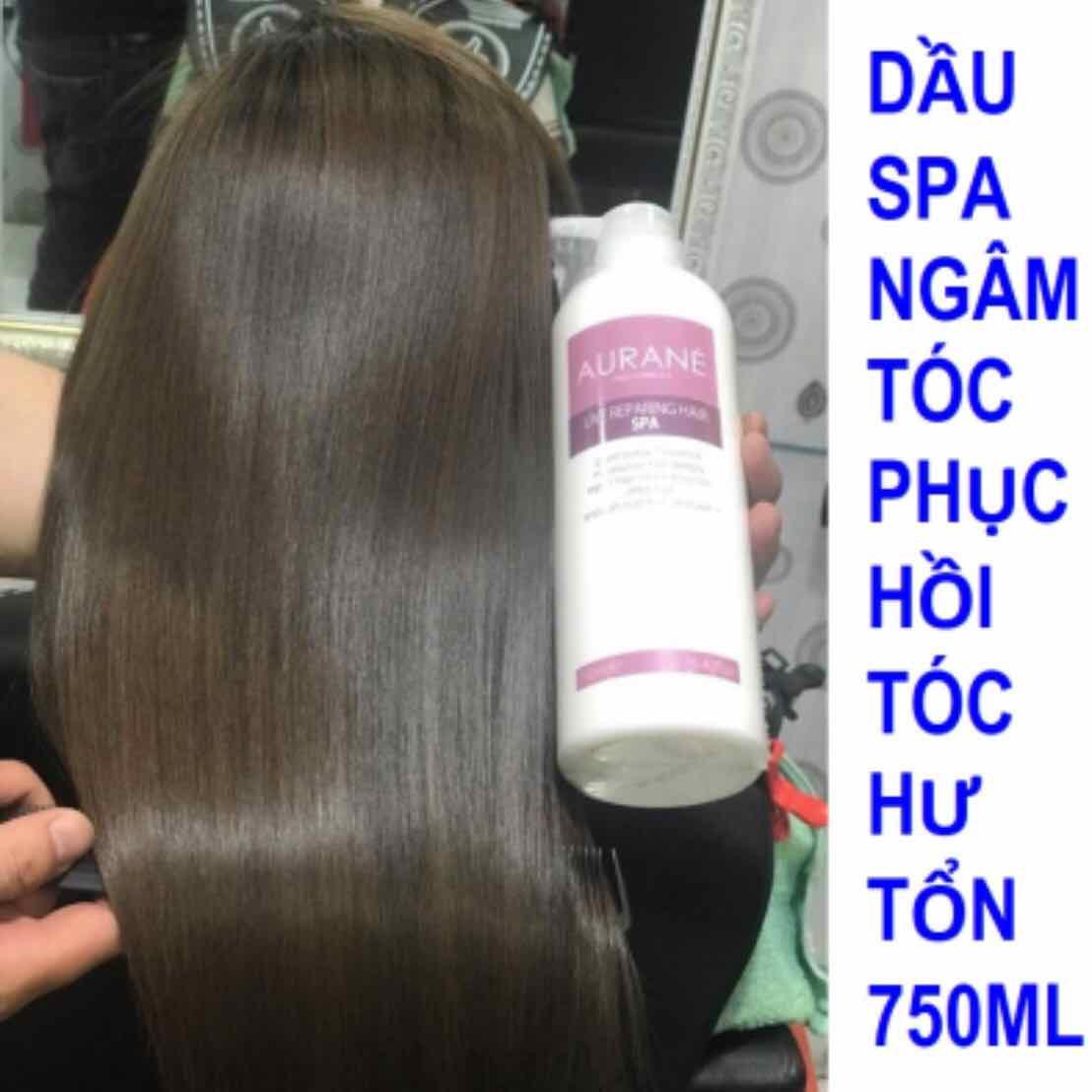Dầu ngâm ủ phục hồi tóc Aurane Live Repairing Hair Spa 750ml
