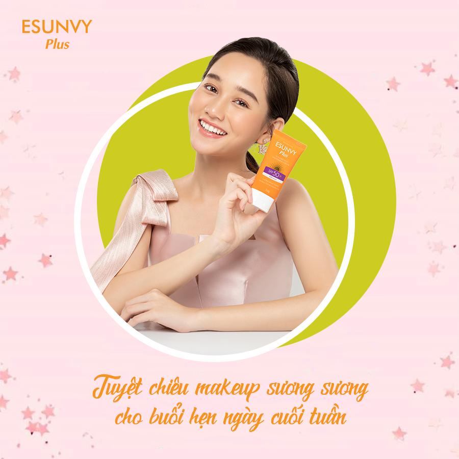 Kem Chống Nắng Esunvy Plus - Sun Care Face Whitening Cream SPF50+/PA++++ - Chống nắng tối ưu, dưỡng trắng chuyên sâu - Tuýp 50g