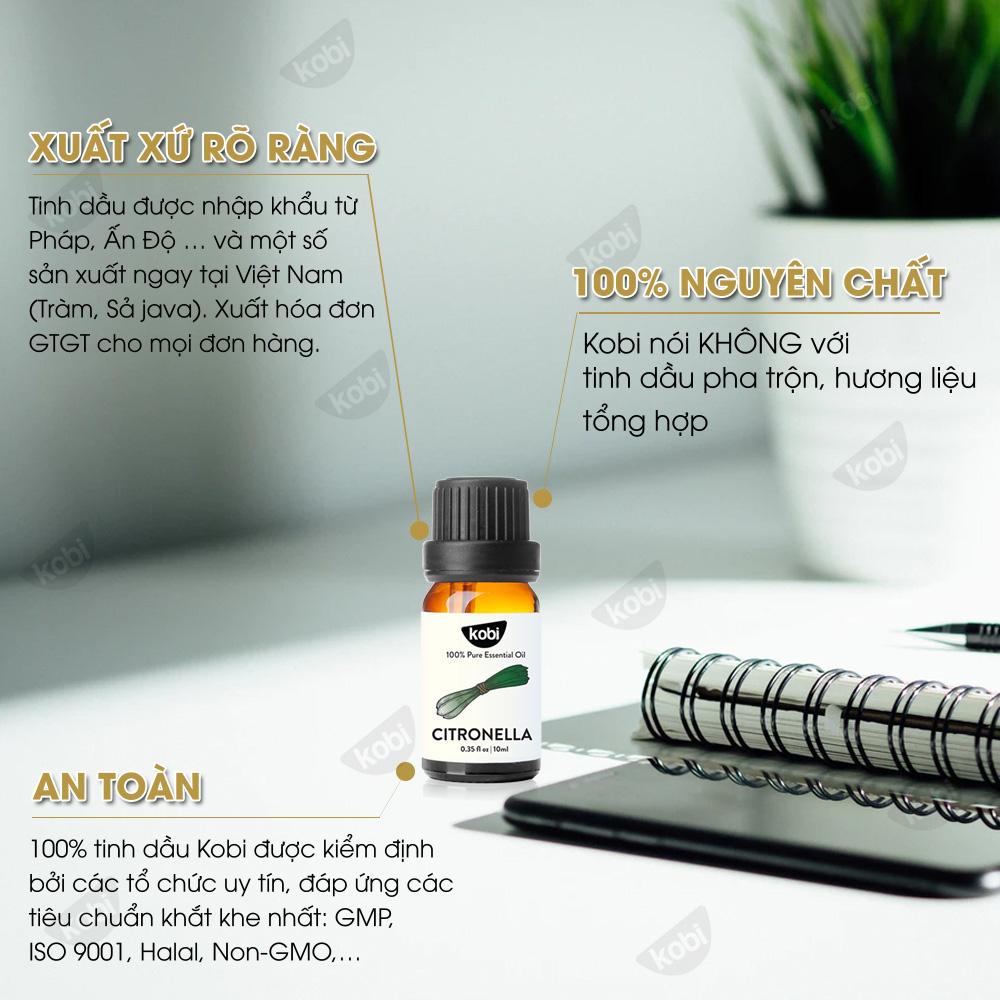 Tinh Dầu Sả Java Nguyên Chất Kobi Giúp Khử Mùi, Đuổi Muỗi Hiệu Quả (30ml)