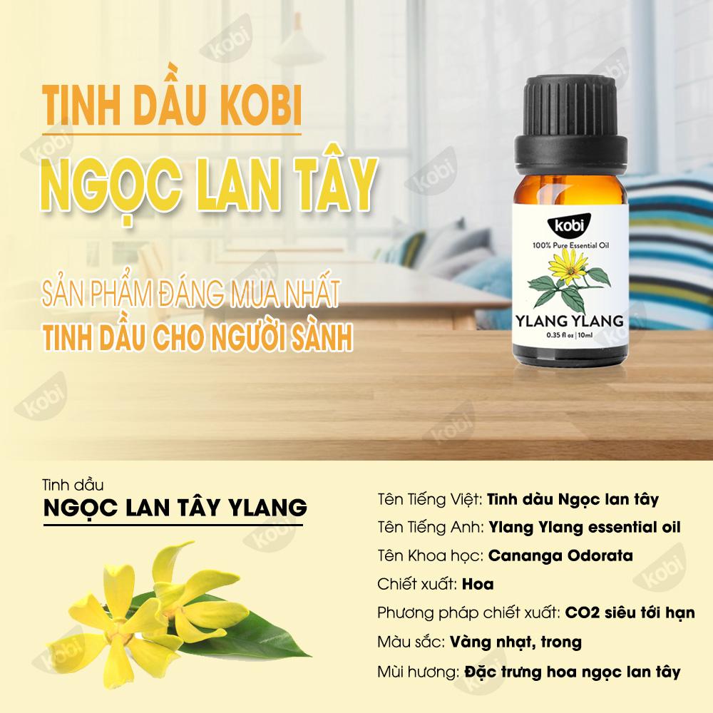 Tinh Dầu Ngọc Lan Tây Ylang Kobi Giúp Thư Giãn, Tạo Hứng Khởi (100ml)