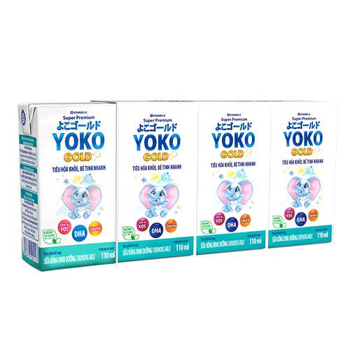 Thùng 48 Hộp Sữa Bột Pha Sẵn Vinamilk Yoko Gold 110ml