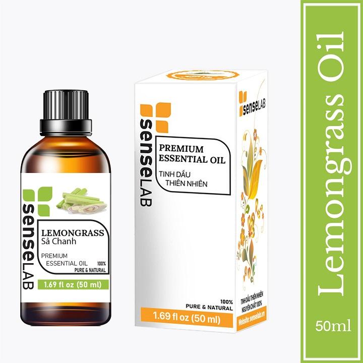 Tinh dầu cao cấp SENSELAB gồm 2 chai tinh dầu nguyên chất: tinh dầu Sả chanh (50ml) + tinh dầu Bạc hà (50ml). Tinh dầu xông phòng nhập khẩu