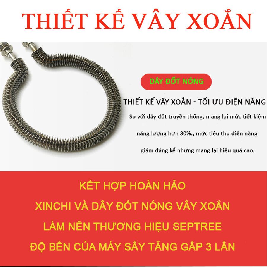 Máy sấy inox thực phẩm septree 6 khay - Hàng nhập khẩu