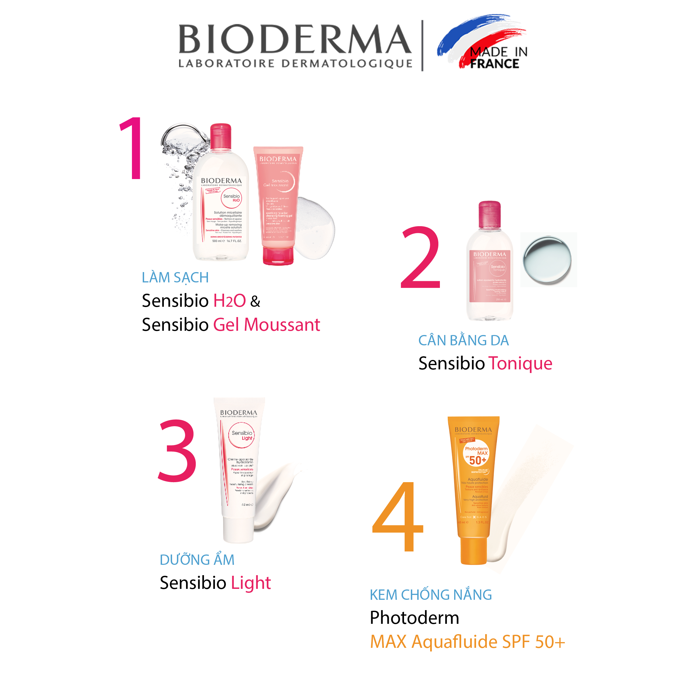Gel rửa mặt tạo bọt cho da nhạy cảm Bioderma Sensibio Gel Moussant - 45ml