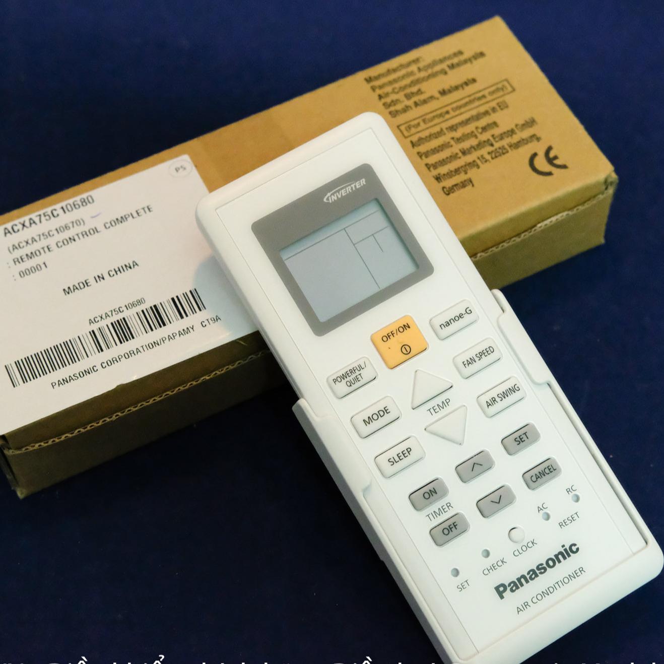 Điều khiển chính hãng Điều hoà Panasonic Model CS-PU12UKH-8 - Hàng chính hãng