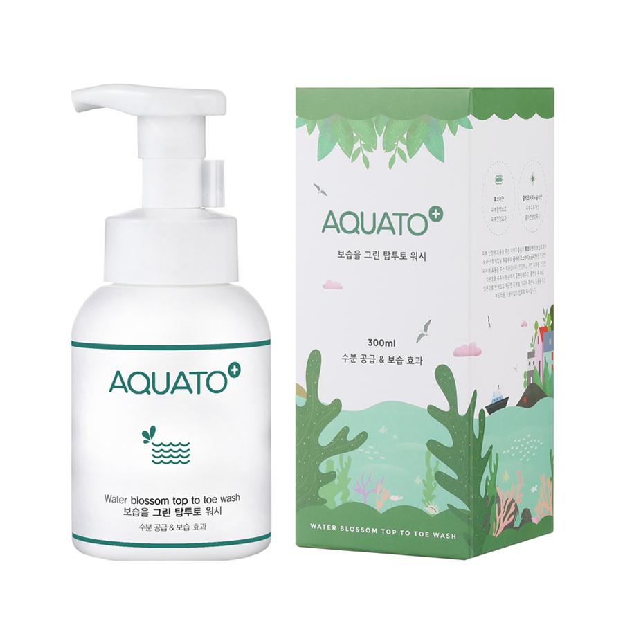 Sữa tắm gội dưỡng ẩm cho mẹ và bé AQUATO blossom top to toe