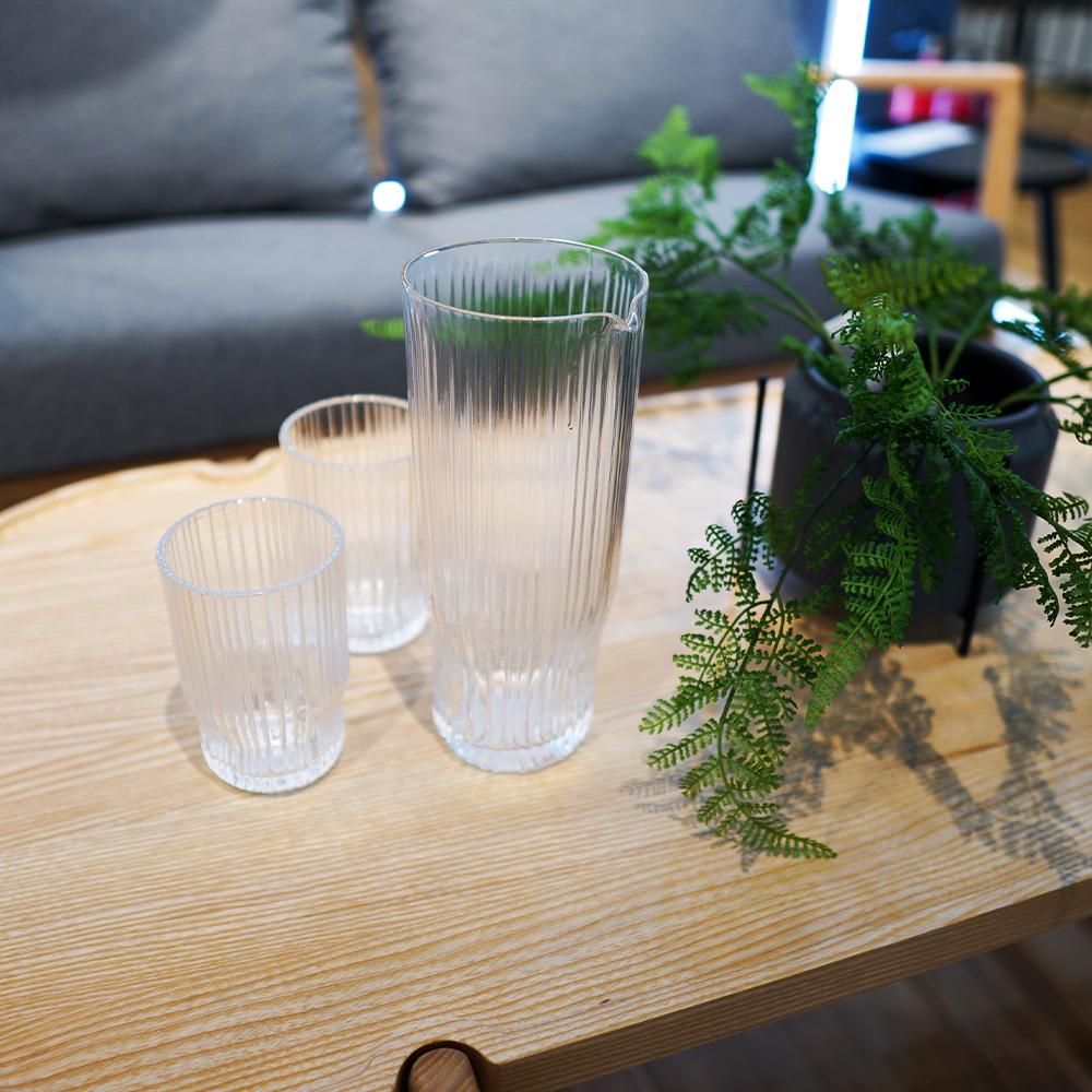 Bình đựng nước JYSK Nordicsense thuỷ tinh trong suốt 10.5x9.5x23cm