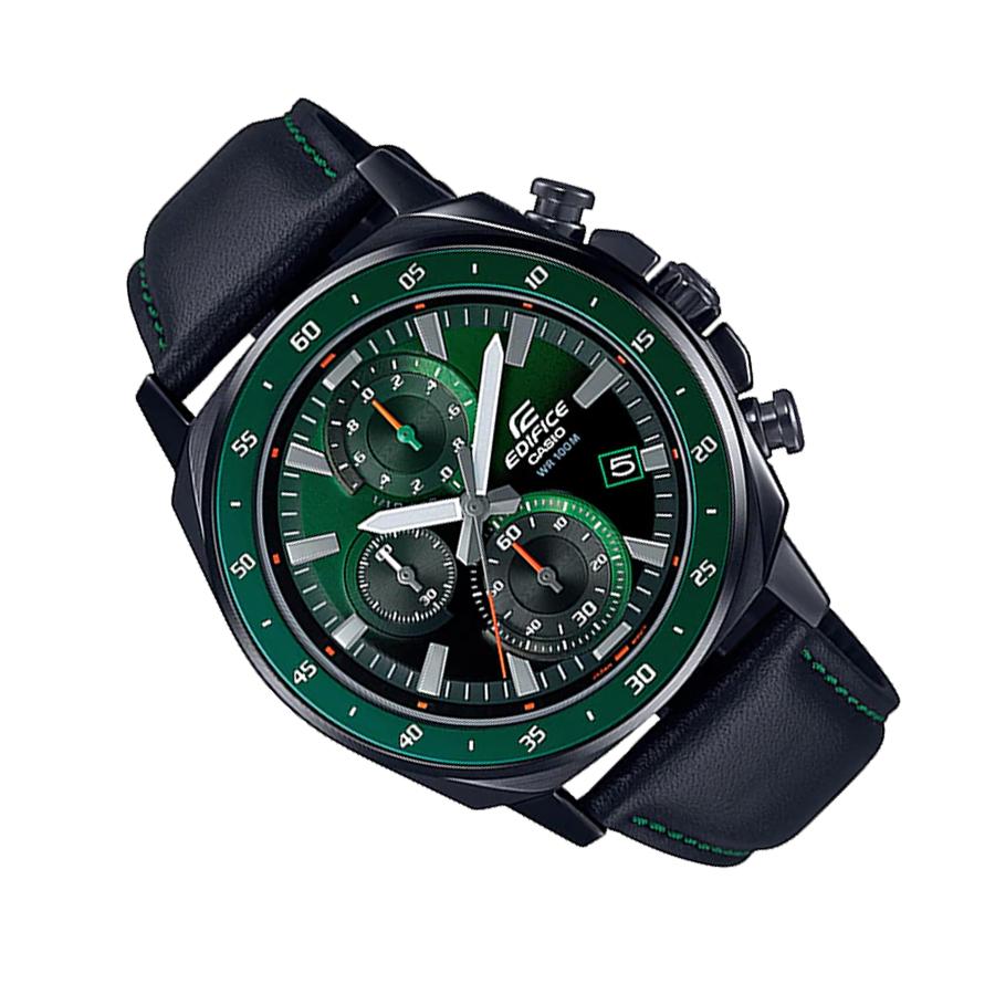 Đồng hồ nam dây da Casio Edifice chính hãng EFV-600CL-3AVUDF