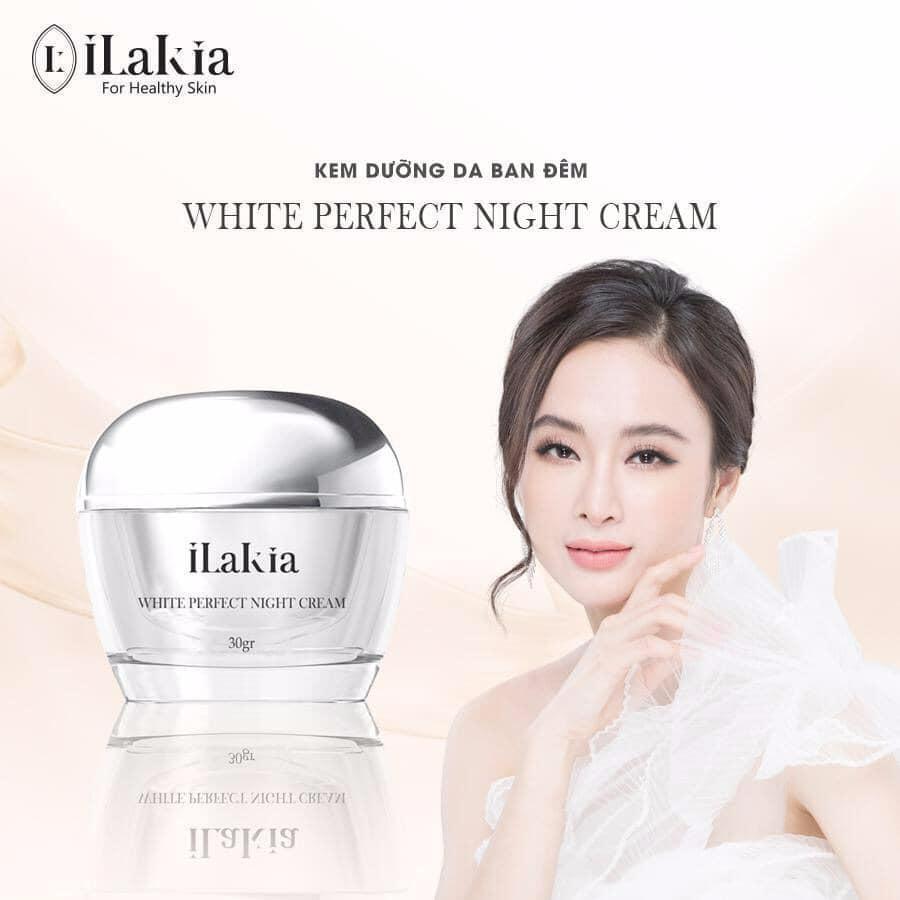 iLakia - Kem Dưỡng Face Tổ Yến WHITE PERFRCT NIGHT CREAM Trắng Hồng Tự Nhiên - Ban Đêm - 30g KOREA