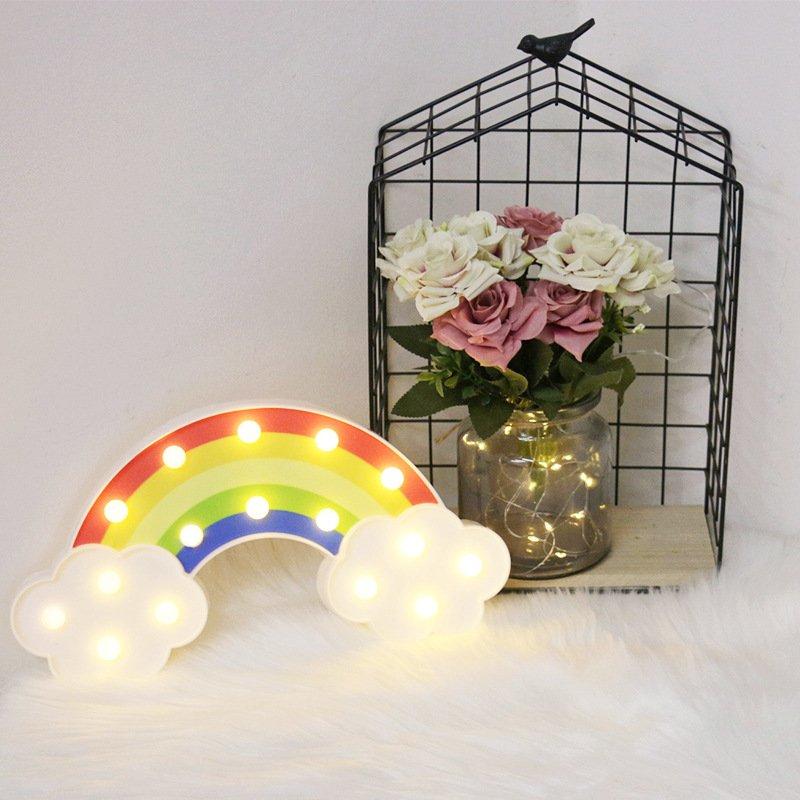 Đèn Led Trang Trí 7 Sắc Cầu Vòng  Thích Hợp Trang Trí Trong Nhà