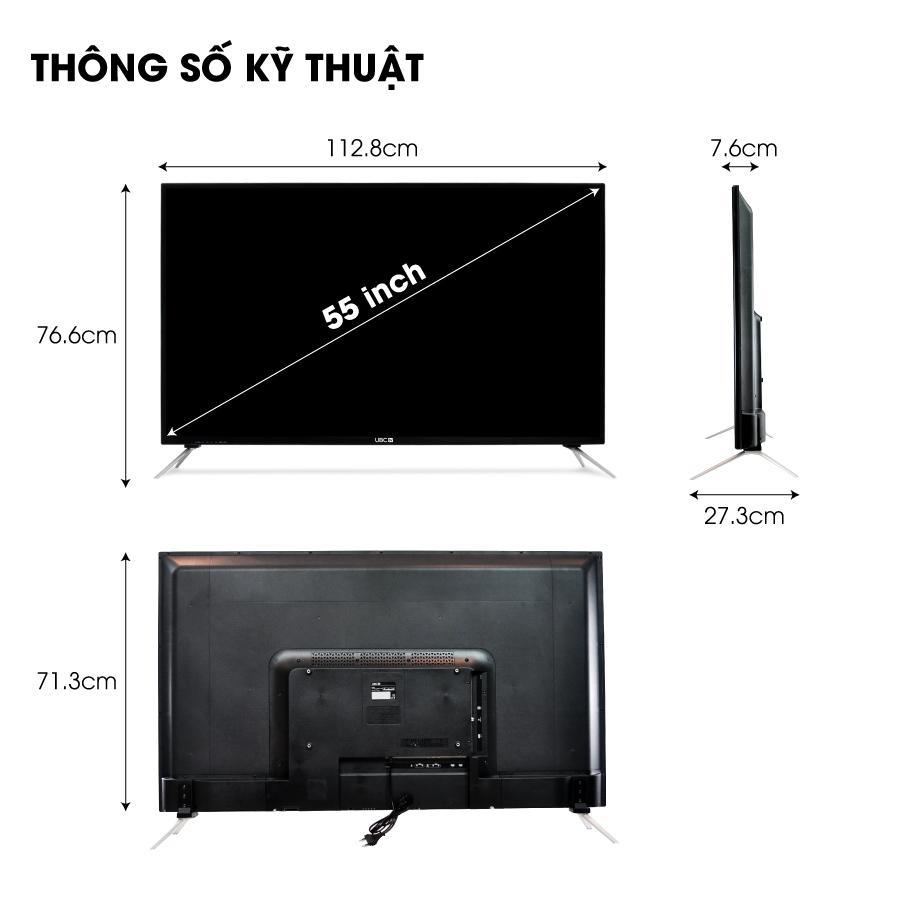Smart voice tivi UBC 4K 55 inch U55V700, kính cường lực - tìm kiếm bằng giọng nói - Hàng Chính Hãng