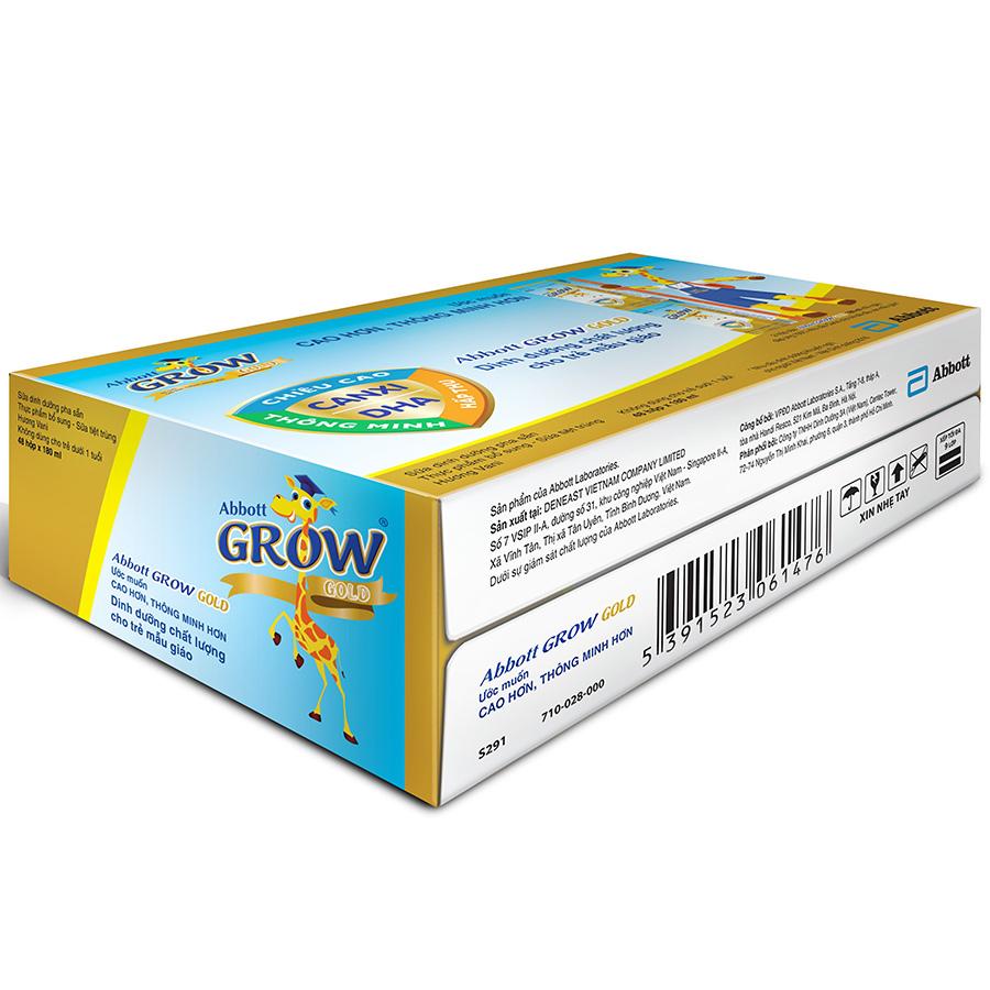 Hình ảnh Thùng 48 Hộp Sữa Công Thức Pha Sẵn Abbott Grow Gold Hương Vani (180ml)