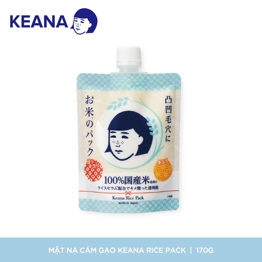Mặt Nạ Cám Gạo Dạng Thoa Keana Rice Pack Làm Sáng Mịn Da (170g) - NHẬP KHẨU NHẬT BẢN