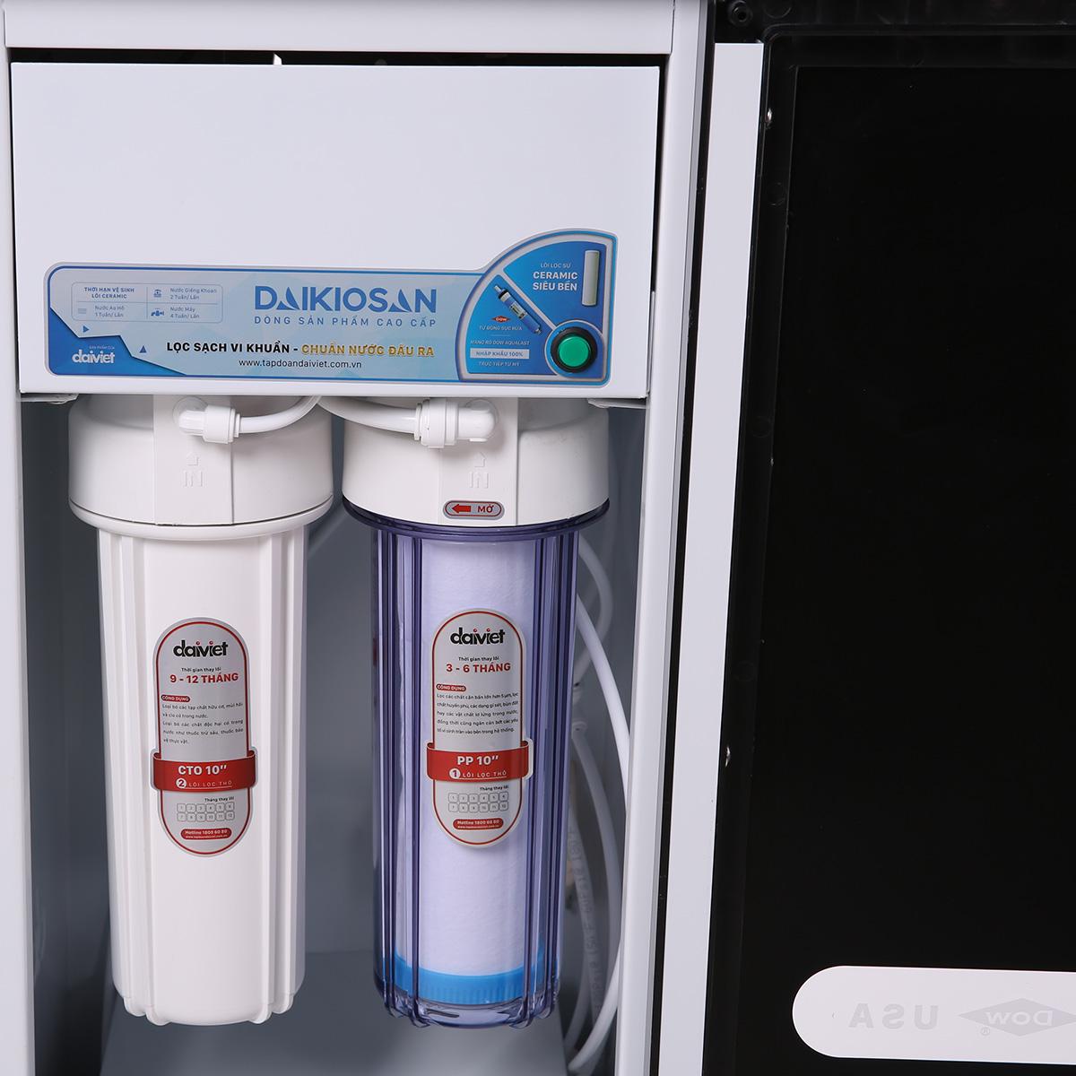 Máy lọc nước RO Daikiosan DSW-32009G - Đen - Hàng Chính Hãng