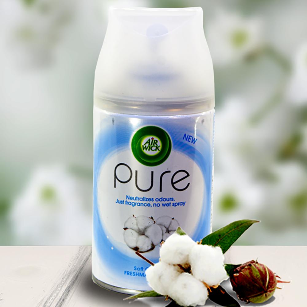 Bình xịt tinh dầu thiên nhiên Air Wick Soft Cotton 250ml QT06518 - hương hoa bông