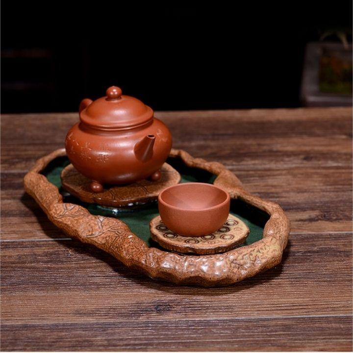 (chọn mẫu) Khay thuyền trà gốm sứ cao cấp đựng ấm chén sang trọng