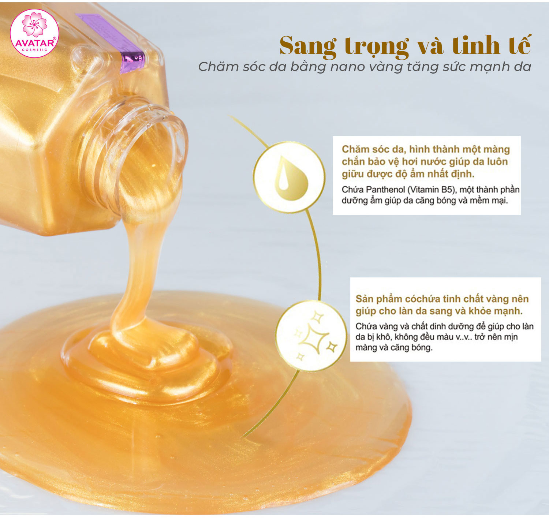 Sữa Tắm Hoàng Kim Nano Avatar 750ml