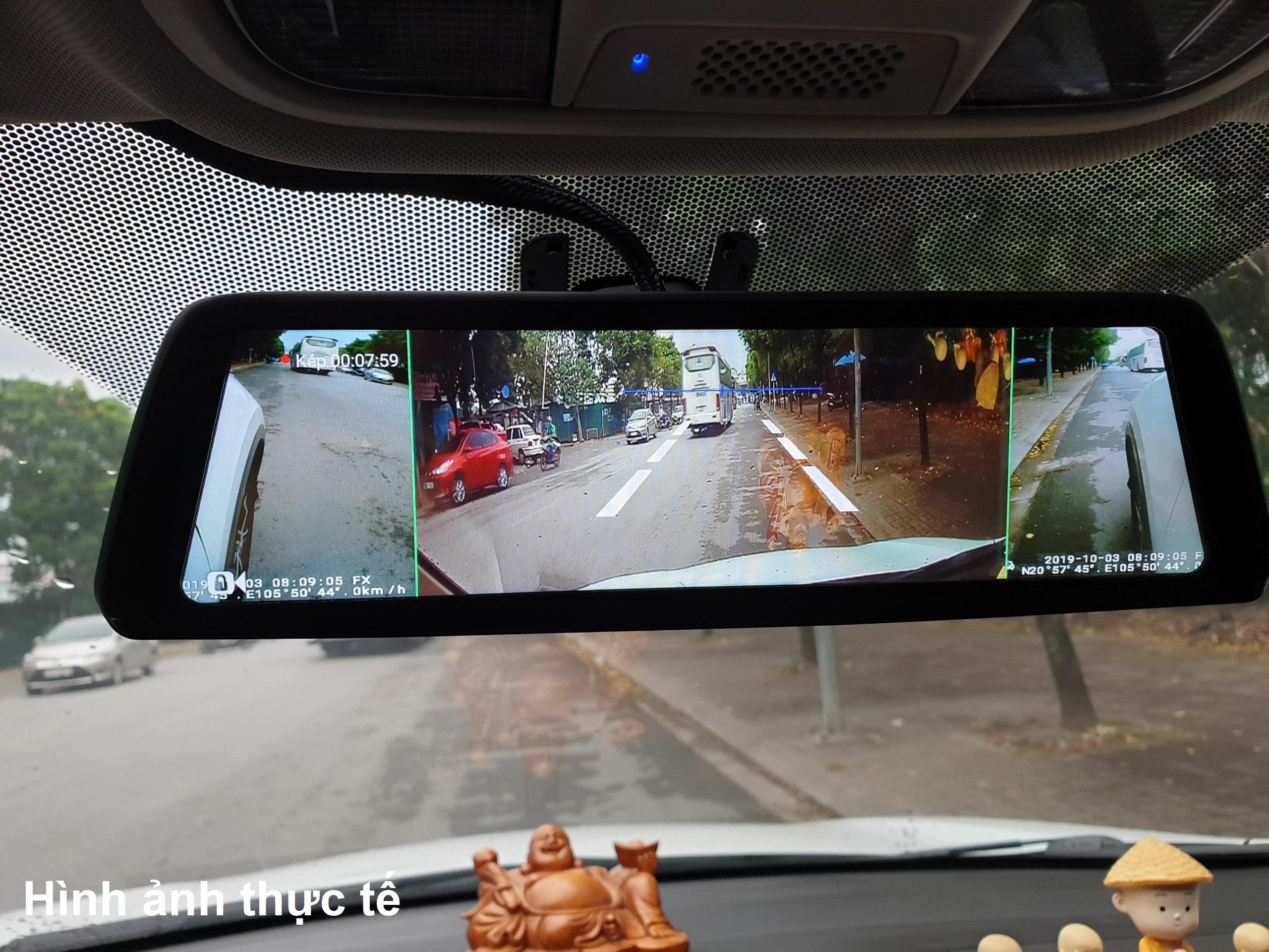 Camera hành trình cao cấp Phisung V9 Plus tích hợp 4 camera, Android Wifi GPS