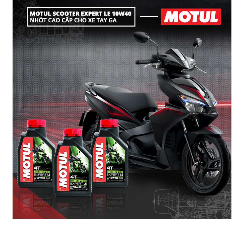 Nhớt Xe Tay Ga Motul Scooter Expert Le 10w40 20x0.8l Vn (800ml)