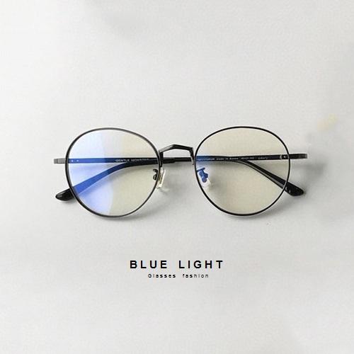 Gọng Kính Cận, Kính Giả Cận Nam Nữ Không Độ Mắt Tròn Gọng Đen Viền Dày Không Độ Hàn Quốc - BLUE LIGHT SHOP