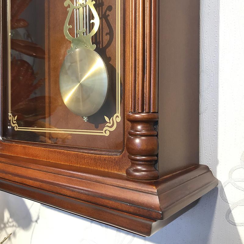 Đồng hồ treo tường RHYTHM SIP (Sound In Place) Wall Clocks CMJ582NR06 (Kích thước 31.8 x 67.5 x 13.0cm), Vỏ màu Nâu