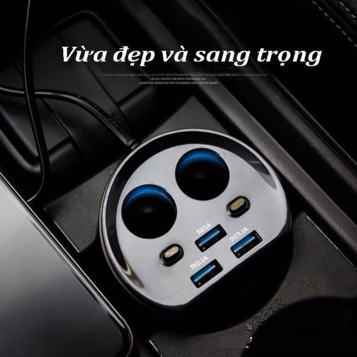 Bộ Chia Adapter Sạc Hyundai HY-18 - Hàng Nhập Khẩu
