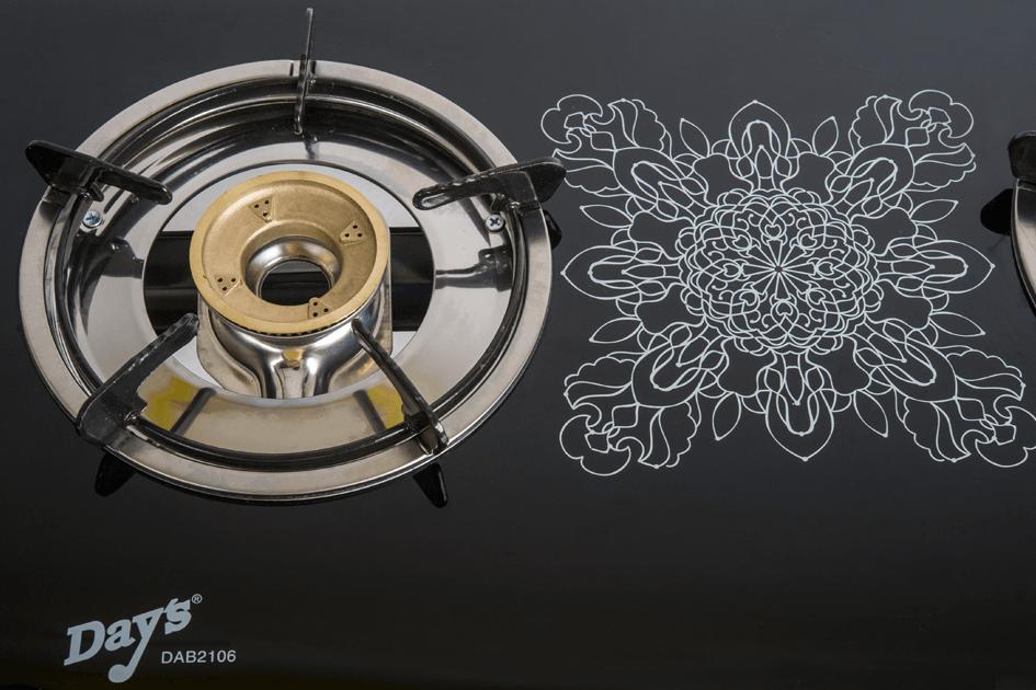 Bếp Gas Dương Đôi Mặt Kính Sunhouse Day's DAB2106 - Hàng Chính Hãng