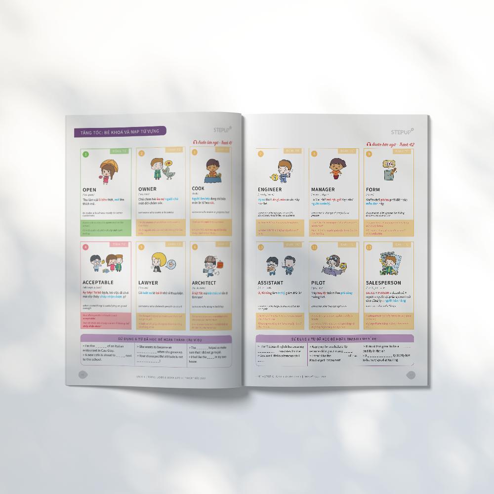 Combo 3 sách Hack Não 1500 và Hack Não Plus A, B - Bộ sách tự học từ vựng tiếng Anh theo chủ đề, tặng kèm App Hack Não Pro học phát âm miễn phí