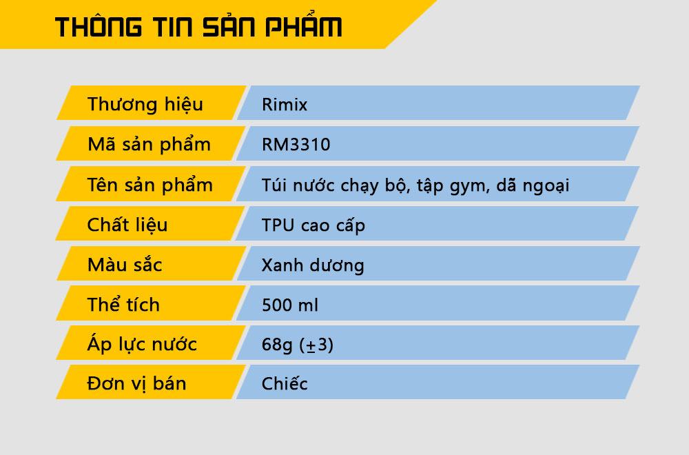Bình nước chạy bộ, tập gym, dã ngoại Rimix RM3301 (500 ml)
