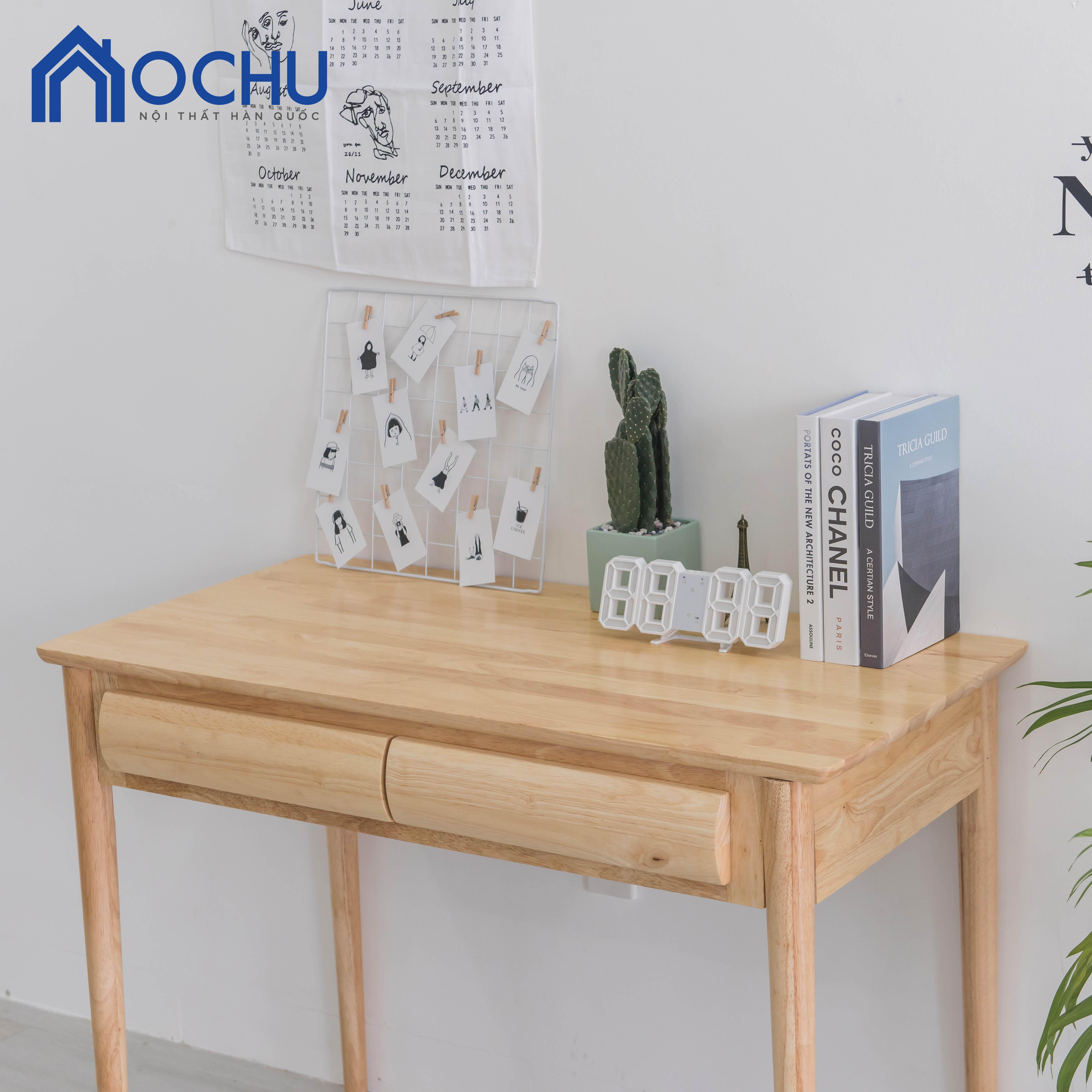 Bàn Làm Việc Gỗ Có Hộc OCHU - B Table - Natural