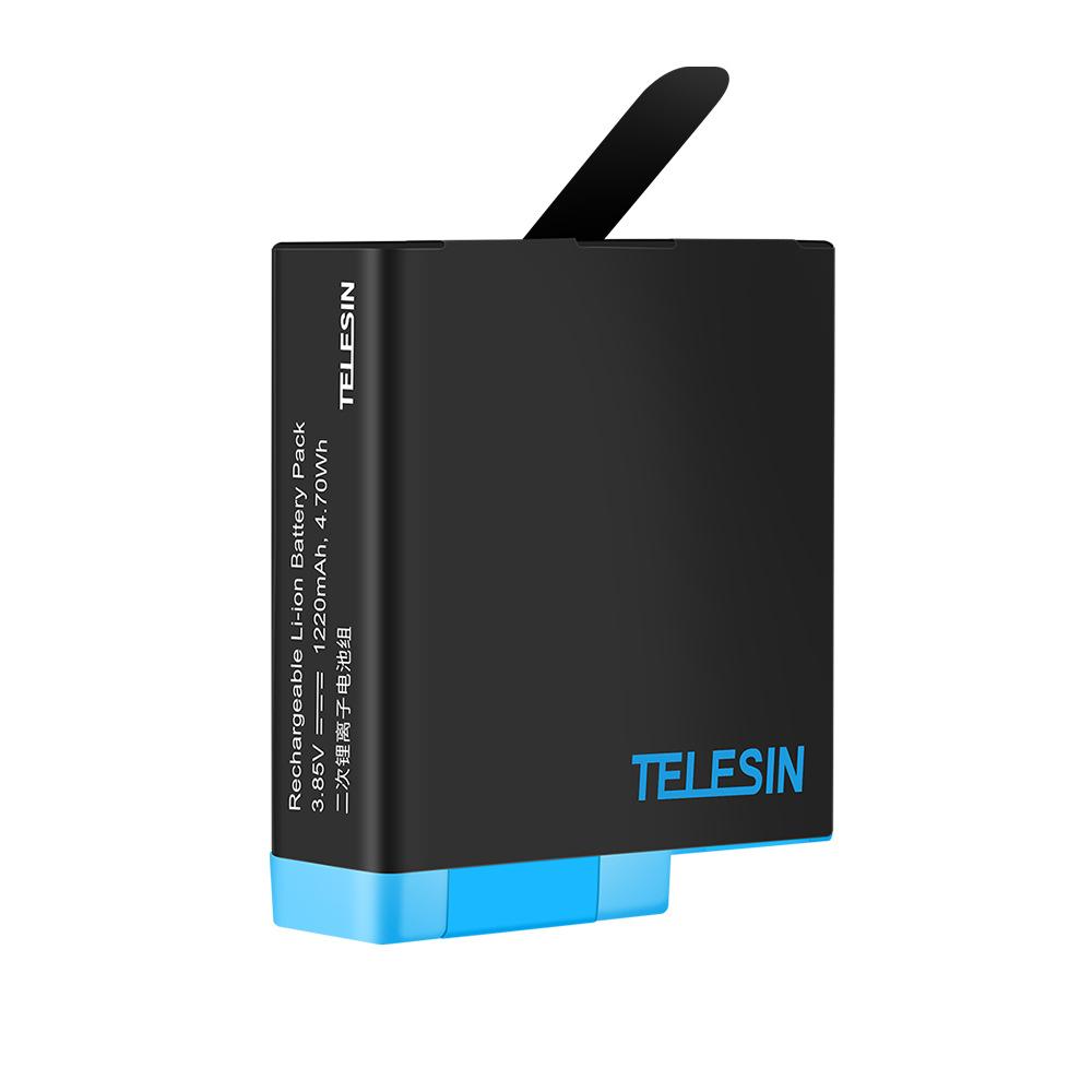 Combo 2 pin + 1 sạc Telesin cho máy quay GoPro Hero 5 Hero 6 Hero 7 Hero 8 (Hàng nhập khẩu)