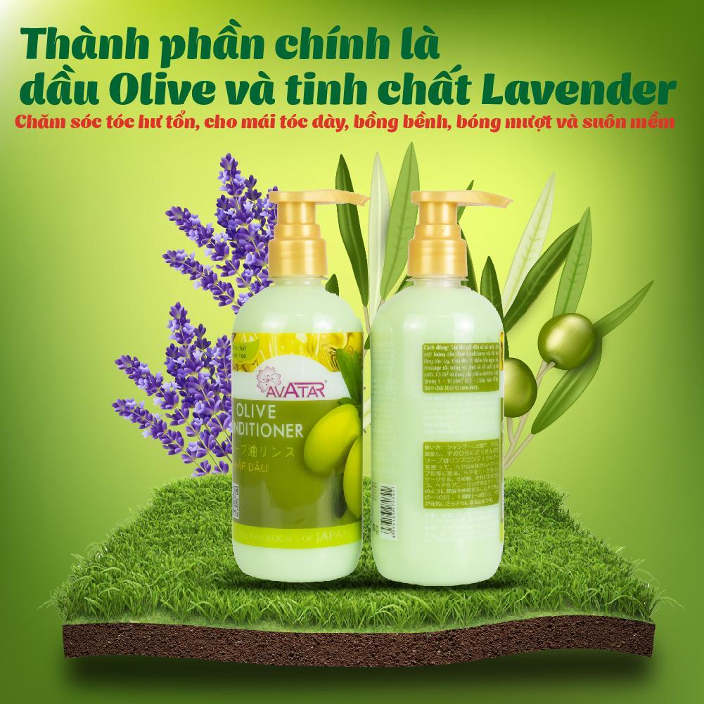 Kem hấp dầu Olive Avatar 500ml Nuôi dưỡng tóc Chắc khỏe Chống gãy rụng Tóc Dài Suôn Mềm mượt