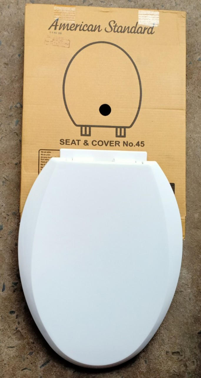 Nắp nhựa dùng cho bồn cầu American Standard nắp rơi tự do SCVN4500-WT(No.45)