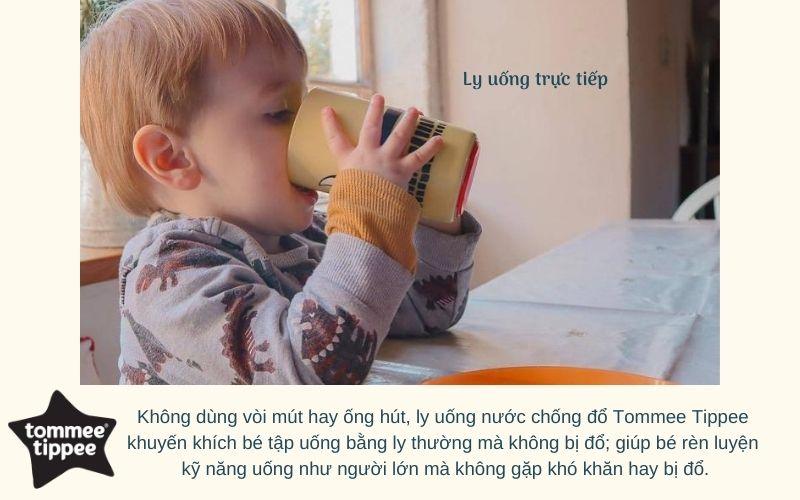 Ly uống nước chống đổ Tommee Tippee No-Knock từ 18 tháng - Vàng
