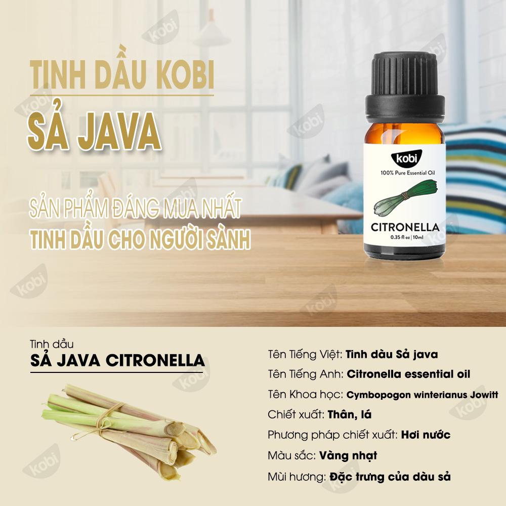 Tinh Dầu Sả Java 50ml Kobi Nguyên Chất Giúp Khử Mùi, Đuổi Muỗi Hiệu Quả