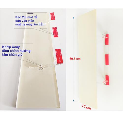 Tấm chắn gió máy lạnh âm trần dành cho dân văn phòng