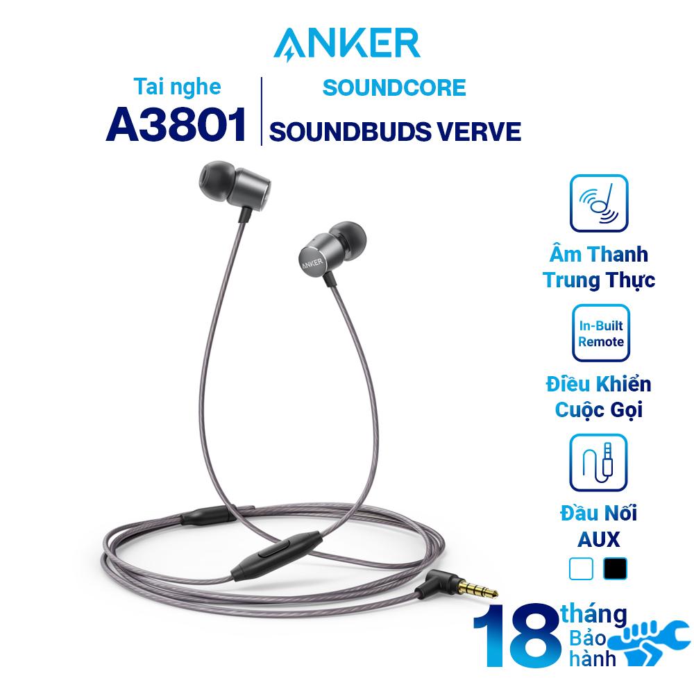 Tai Nghe Nhét Tai Anker Soundbuds Verve A3801 - Hàng Chính Hãng