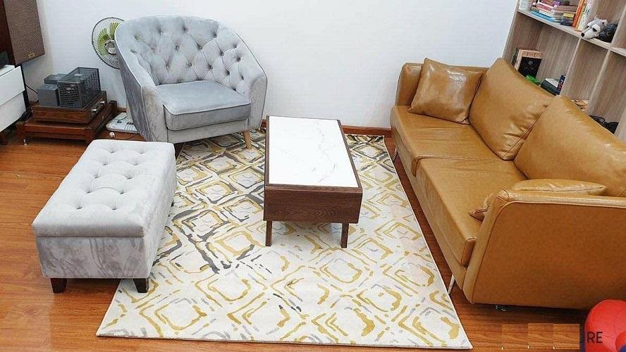 Thảm trải sofa phòng khách lông ngắn 160X230 CM mã TSLX0002YE