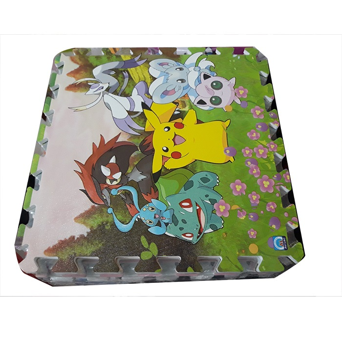 Combo 9 tấm thảm xốp ghép in hình con thú ngộ nghĩnh, kích thước 1 tấm 40cm x 40cm x0,9cm