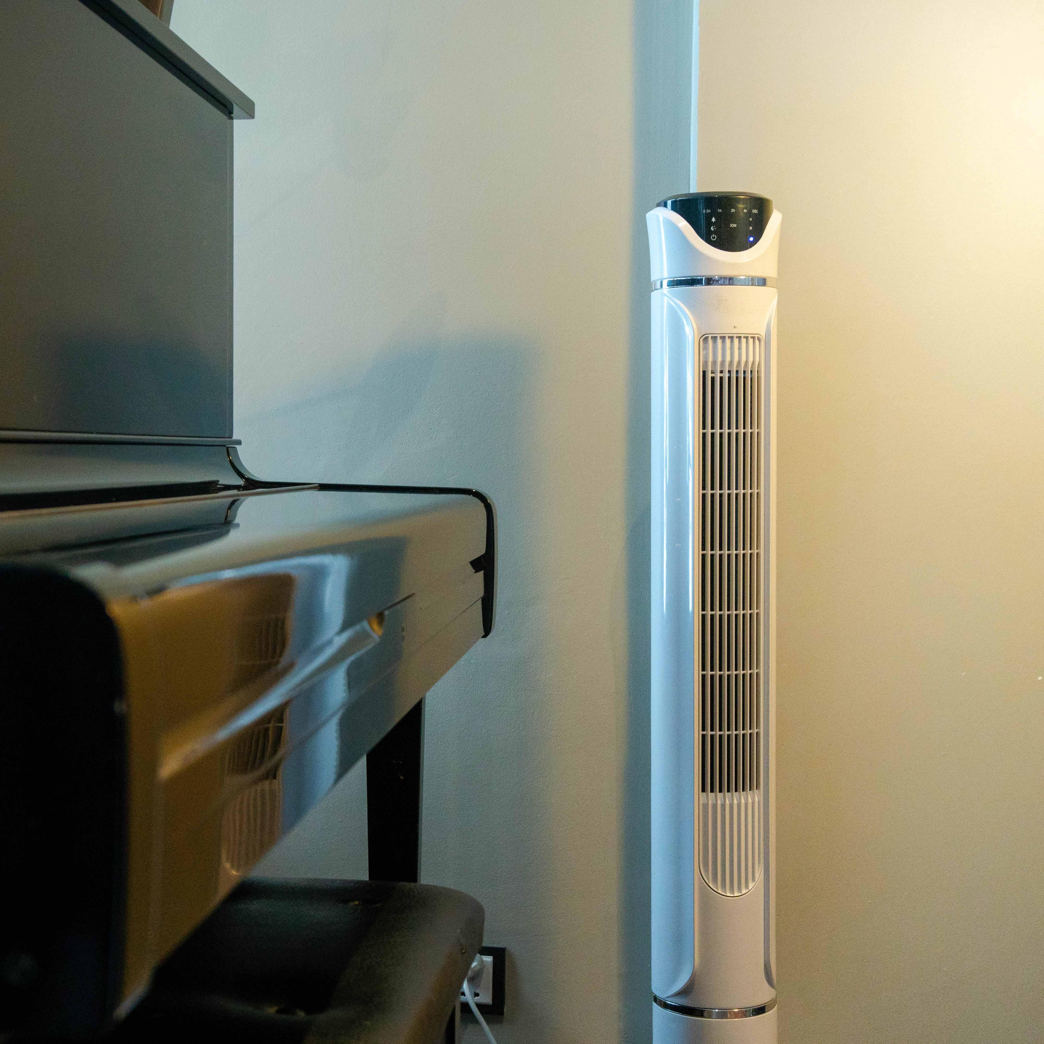 Quạt tháp không cánh Vf - poco - trắng - tích hợp chế độ cung cấp ion âm, lọc không khí