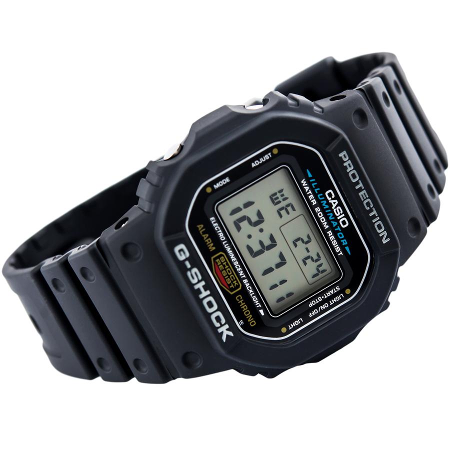 Đồng hồ nam dây nhựa Casio G-Shock chính hãng DW-5600E-1VDF
